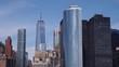 New York city skyline. Downtown with many skyscrapers