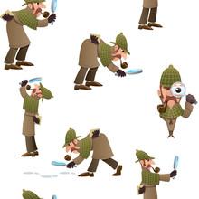 Detective Seamless Pattern