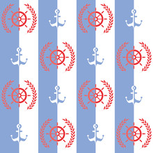 Nautical Pattern, Seamless Vec...