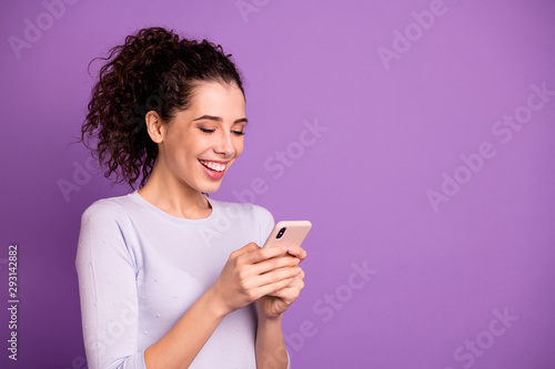 Fotomural  Close-up portrait of her she nice attractive lovely cheerful cheery glad wavy-ha
