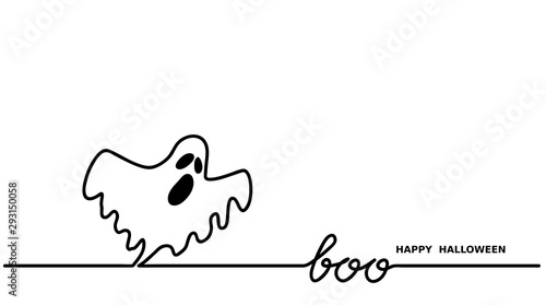 Ghost says boo Canvas Print