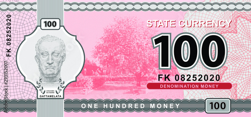 hundred, one, money, currency, state, gattamelate, sculpture, pink, gray, grey, Wallpaper Mural
