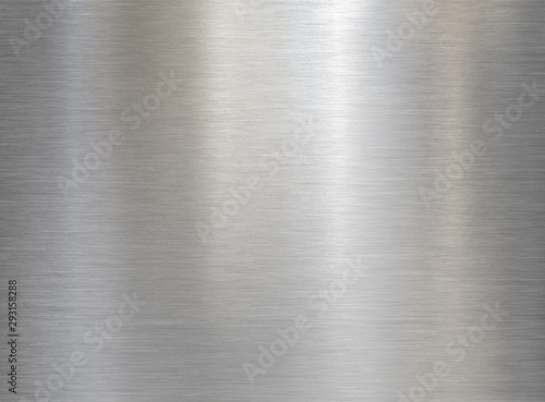 Obraz brushed steel or aluminum metal texture - fototapety do salonu