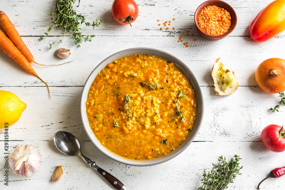 Fototapety, obrazy: Red Lentil Soup