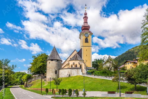 Fotografie, Tablou  View at the Church of Saint Peter and Paul in Tarvisio - Italy