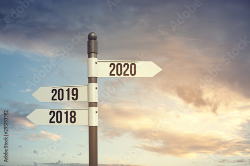 Fotomural 2020 new start, new hope, new beginning with new year