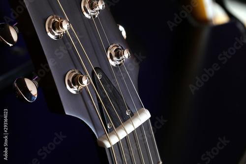 Photo Dettaglio di un manico di chitarra elettrica