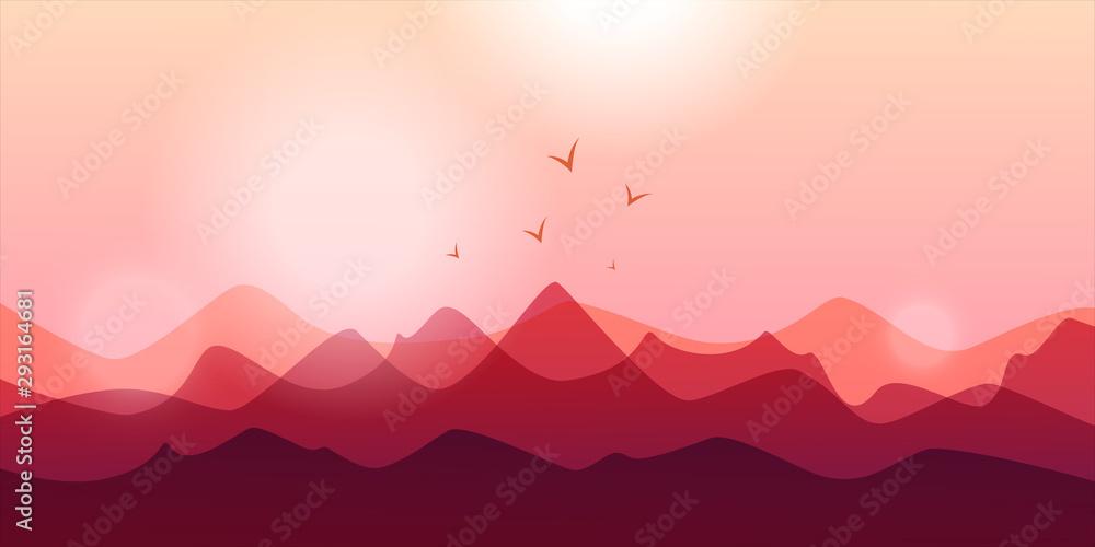 Fototapeta Mountain abstract