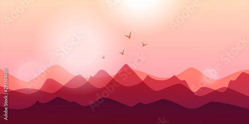 Fototapety, obrazy: Mountain abstract
