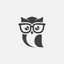 Owl Logo Tempalte, Owl Sunglas...