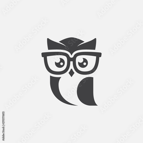 Photo Stands Owls cartoon owl logo tempalte, owl sunglasses logo design, owl mascot design, owl character design vector