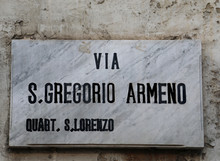 Street Name Of Naples In Italy...