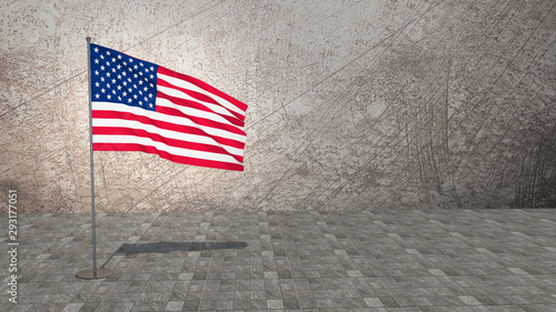 Photo Stands India American Flag Of United States Of America