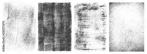 Fototapeta Zestaw czarno-białych bannerów, retro tła na zamówienie