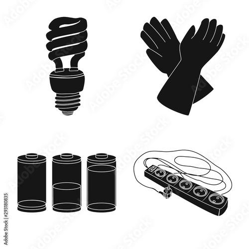 Fotografie, Obraz Vector illustration of electricity and electric symbol