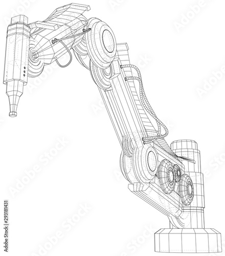 Industrial robot manipulator Wallpaper Mural