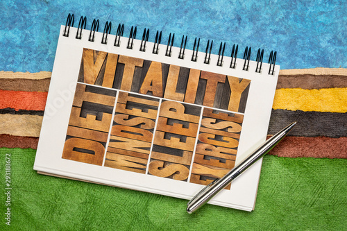 Fotografija  diet, sleep, exercise and mindset - vitality concept