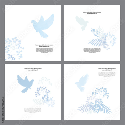 Cuadros en Lienzo Classic, universal religious templates cards God bless you