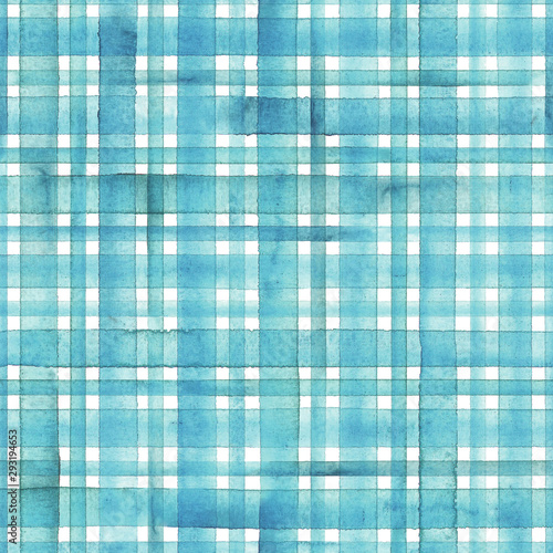 Tapety Turkusowe watercolor-stripe-plaid-seamless-pattern-teal-blue-turquoise-stripes-background
