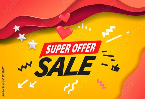 Fotografía  Super offer sale banner design template