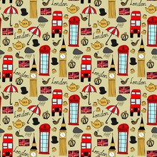 Seamless Pattern With London O...