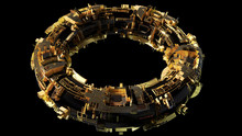 Space Station Or High Tech Donut Or Steampunk Bracelet Or ...