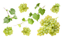 Set Of Fresh Juicy Grapes And ...