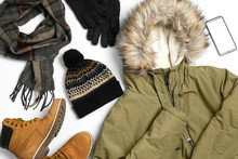 Set Of Stylish Winter Clothes ...