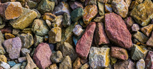 Macro Closeup Of Gravel Stones...