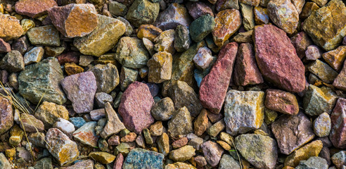 Fototapeta Kamienie gravel stones in diverse colors in closeup, stone pattern background