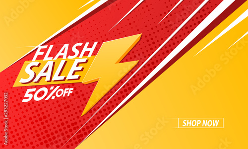 Flash sale background, template, poster or banner Poster Mural XXL