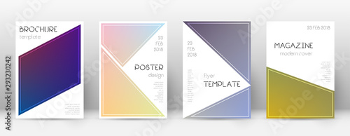 Flyer layout. Triangle cool template for Brochure, Canvas Print