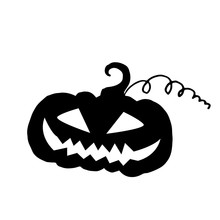 Jack-O-Lantern Silhouette Vector Illustration