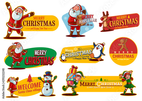 christmas stickers - 293232248