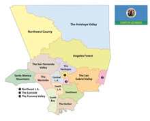 Los Angeles County Regions Map...