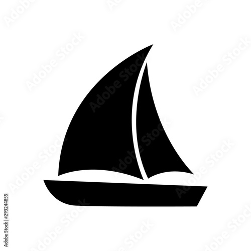 Fotografia Sailboat icon, logo isolated on white background