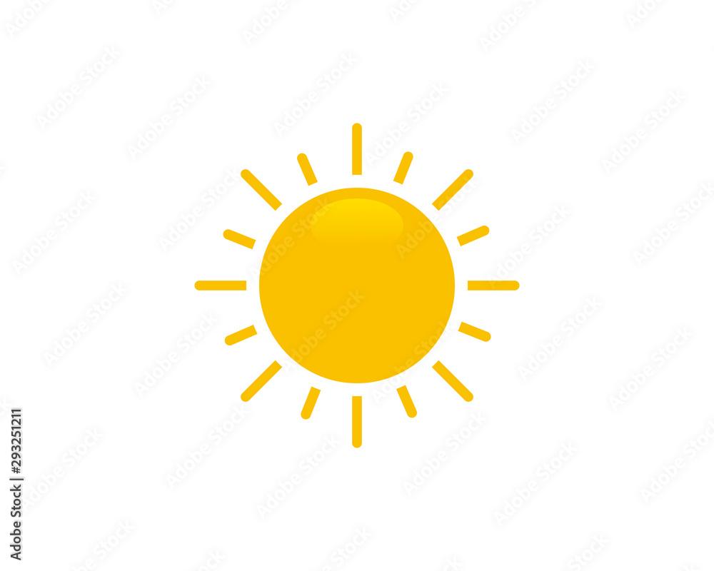 Fototapety, obrazy: Sun icon symbol vector