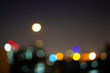Colorful bokeh background in the city