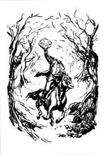 Headless Horseman Ink Drawing