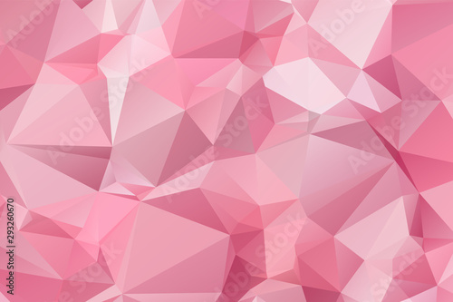 obraz lub plakat Light Pink vector modern geometric abstract background , Multicolor, Rainbow vector triangle mosaic template