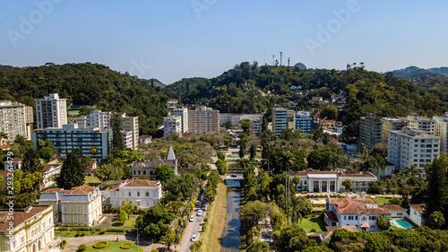 Obraz na plátně  Panoramic view of Liberdade Square in Petropolis, Rio de Janeiro, Brazil