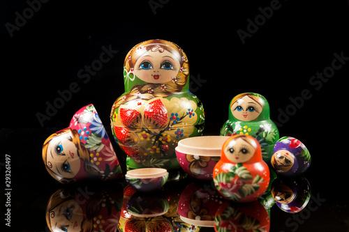 Beautiful Russian nesting dolls Fototapet