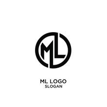 Ml Letter Logo Icon Design Vec...