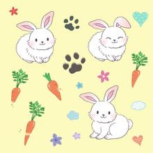Rabbit And A Bitten Carrot