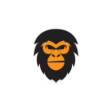 Vector Head Gorilla Logo Templ...