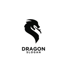Black Dragon Logo Icon Design ...