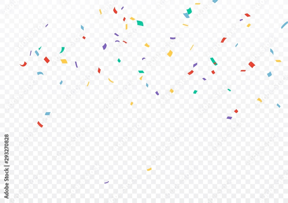 Fototapeta Colorful Confetti celebrations design isolated on transparent background