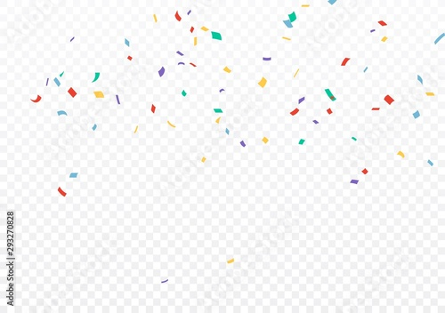 Obraz Colorful Confetti celebrations design isolated on transparent background - fototapety do salonu