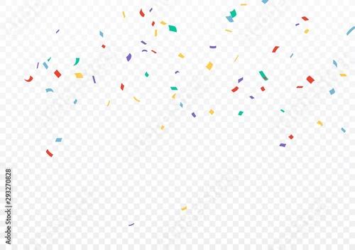 Fototapeta Colorful Confetti celebrations design isolated on transparent background obraz