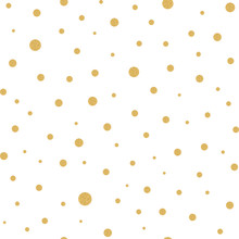 Seamless Pattern With Gold Pol...
